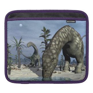 Argentinosaurus dinosaur drinking iPad sleeve