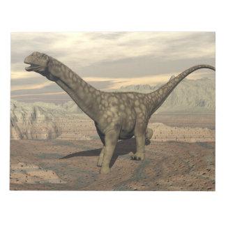 Argentinosaurus dinosaur walk - 3D render Notepad