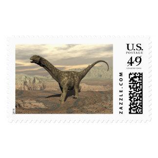 Argentinosaurus dinosaur walk - 3D render Postage