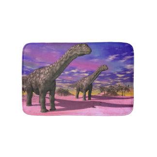 Argentinosaurus dinosaurs - 3D render Bath Mat