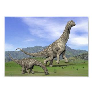 Argentinosaurus dinosaurs - 3D render Card