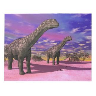 Argentinosaurus dinosaurs - 3D render Notepad