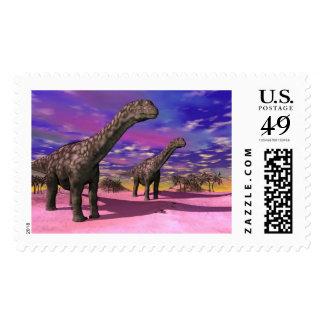 Argentinosaurus dinosaurs - 3D render Postage