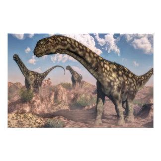 Argentinosaurus dinosaurs - 3D render Stationery