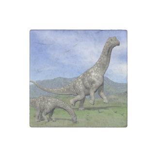 Argentinosaurus dinosaurs - 3D render Stone Magnet
