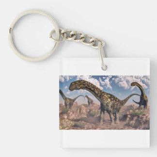 Argentinosaurus dinosaurs Double-Sided square acrylic keychain