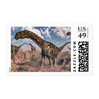 Argentinosaurus dinosaurs stamp