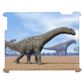 Argentinosaurus dinosaurs walk - 3D render iPad Cases