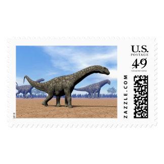 Argentinosaurus dinosaurs walk - 3D render Postage