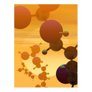 Arginine Molecular Models postcard