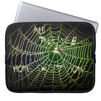 "Argiope spider web ""Ah! The Web, Home Sweet Home"" Laptop Sleeve"