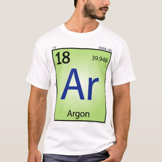 Argon (Ar) Element T-Shirt - Front Only