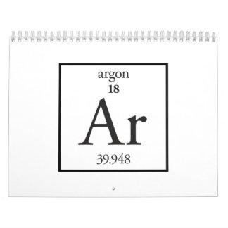 Argón Calendario De Pared