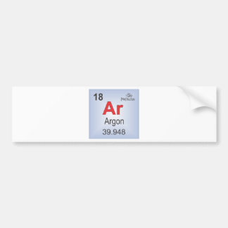 Argon Individual Element of the Periodic Table Bumper Stickers