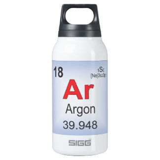 Argon Individual Element of the Periodic Table Insulated Water Bottle