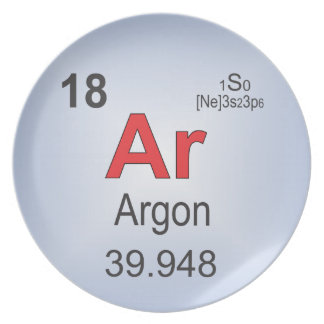 Argon Individual Element of the Periodic Table Melamine Plate