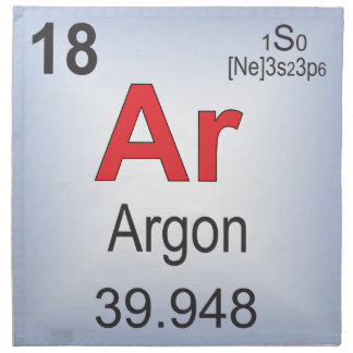 Argon Individual Element of the Periodic Table Napkin