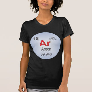 Argon Individual Element of the Periodic Table Tshirts
