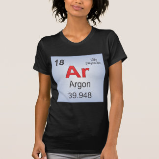 Argon Individual Element of the Periodic Table Tee Shirts