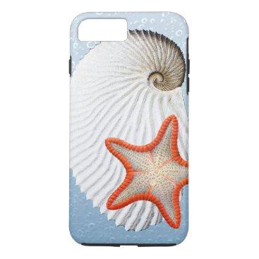 Beach Themed Argonaut and Starfish iPhone 7 Plus Case