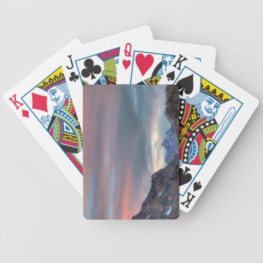 Argonaut Peak, sunset Bicycle Playing Cards
