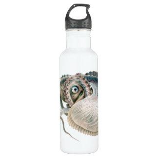Argonauta del pulpo del vintage, animales de la botella de agua