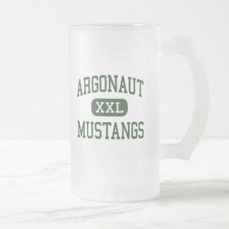 Argonauta - mustangos - alto - Jackson California Jarra De Cerveza Esmerilada