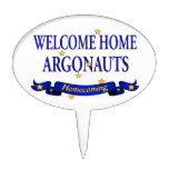 Argonautas caseros agradables figuras de tarta