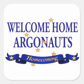Argonautas caseros agradables pegatina cuadrada