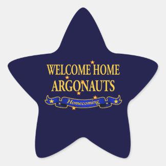 Argonautas caseros agradables pegatina en forma de estrella