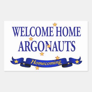 Argonautas caseros agradables pegatina rectangular