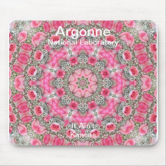 Argonne - Baby's Breath & Pink Roses Star Field Mouse Pad