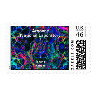 Argonne - Time Travel Through the Worm Hole Postage Stamp