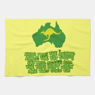 Argot australiano divertido toalla de mano
