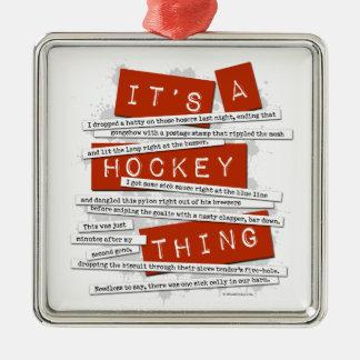 Argot del hockey adorno para reyes