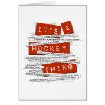 Argot del hockey tarjeta de felicitación