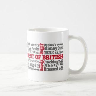 Argot inglés en la bandera cruzada de San Jorge Tazas De Café