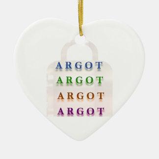 ARGOT:  Palabras francesas de la travesura Adorno De Cerámica En Forma De Corazón