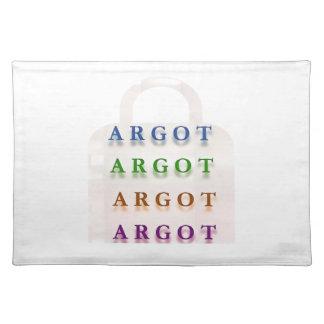ARGOT:  Palabras francesas de la travesura Mantel Individual