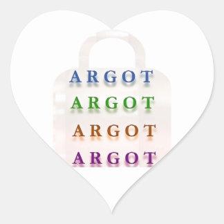 ARGOT:  Palabras francesas de la travesura Pegatina Corazón