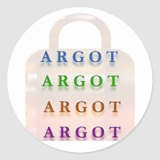 ARGOT:  Palabras francesas de la travesura Pegatina Redonda
