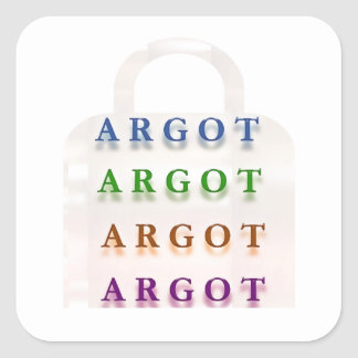 ARGOT:  Palabras francesas de la travesura Colcomania Cuadrada