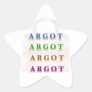 ARGOT:  Palabras francesas de la travesura Pegatina Forma De Estrella Personalizadas