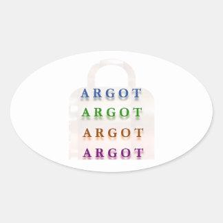 ARGOT:  Palabras francesas de la travesura Colcomanias De Oval Personalizadas