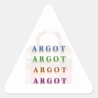 ARGOT:  Palabras francesas de la travesura Pegatina Triangular