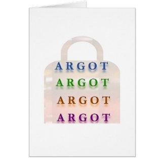 ARGOT:  Palabras francesas de la travesura Tarjeton