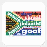 Argot y coloquialismos surafricanos pegatinas cuadradas