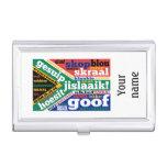 Argot y coloquialismos surafricanos caja de tarjetas de visita