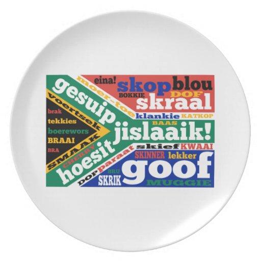 Argot y coloquialismos surafricanos plato