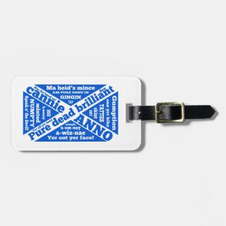 Argot y frases escoceses etiqueta para maleta